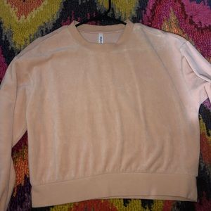 RVCA pink velvet sweater